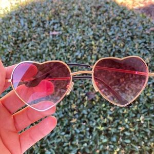 Urban outfitters heart eyes goldframe sunglasses